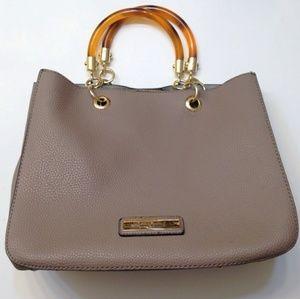 Marc New York Faux Leather/Tortoise shell handbag